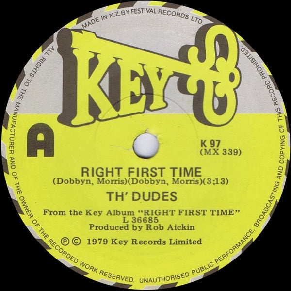 DUDES TH'-RIGHT FIRST TIME 7'' NM