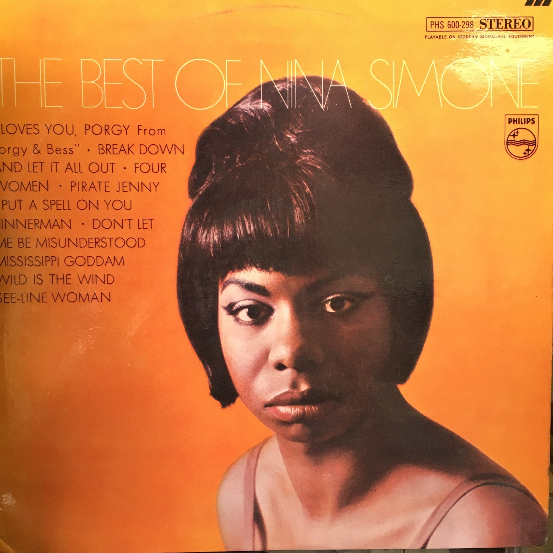 SIMONE NINA-THE BEST OF LP VG+ COVER VG+