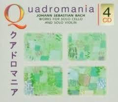 BACH - WORKS FOR SOLO CELLO QUADROMANIA 4CD VG