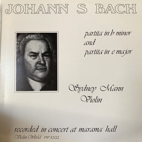 BACH J.S.-PARTITAS 1 & 3 SYDNEY MANOWITZ LP *NEW*
