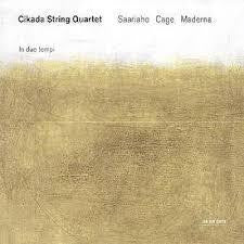 CIKADA STRING QUARTET-IN DUE TEMPI CD VG