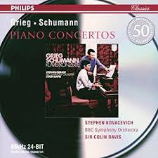 GRIEG SCHUMANN-PIANO CONCERTOS KOVACEVICH SIR COLIN DAVIS CD *NEW*