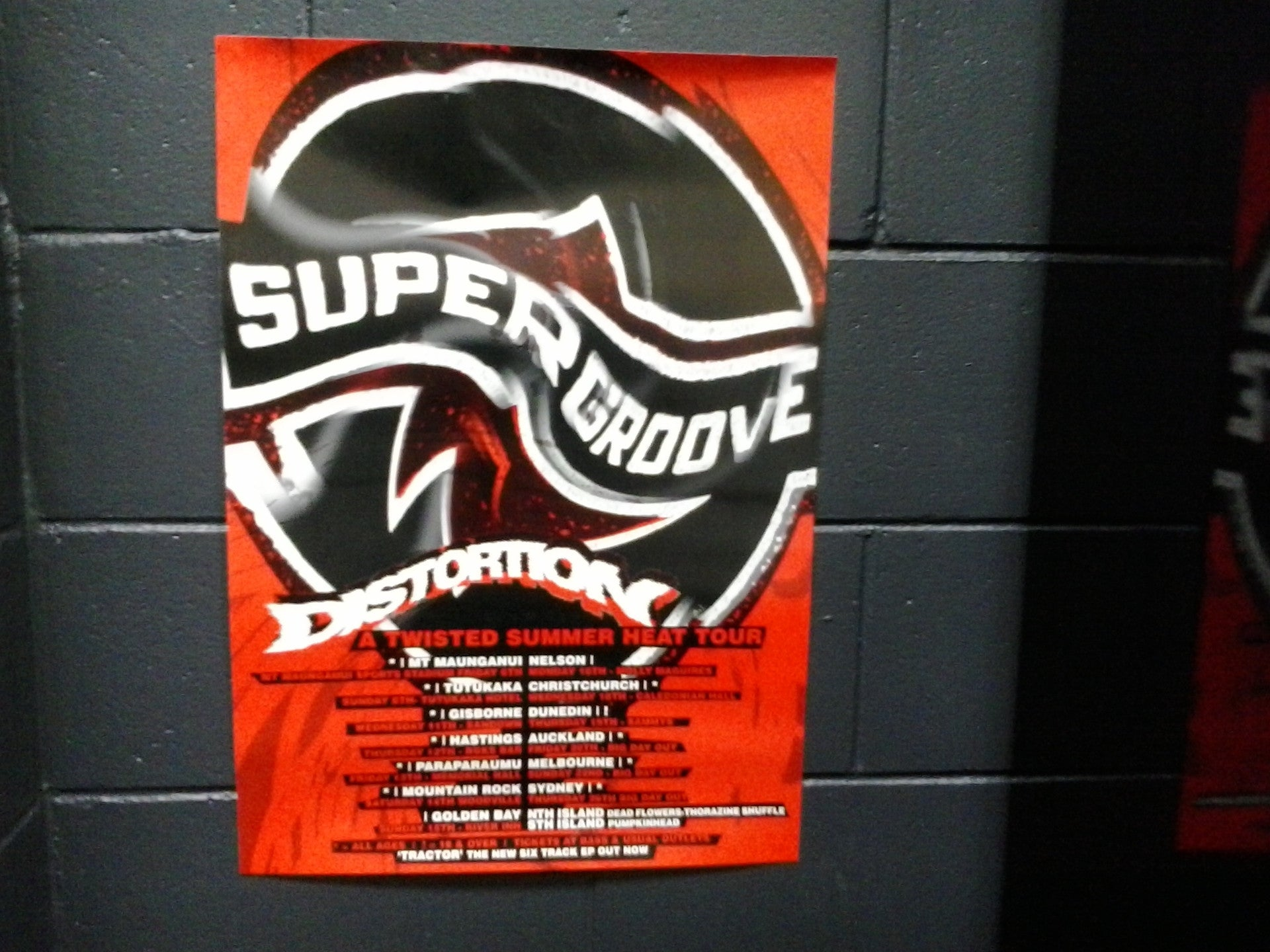 SUPERGROOVE-ORIGINAL TWISTED SUMMER HEAT TOUR POSTER