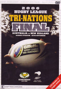 2006 RUGBY LEAGUE TRINATIONS FINAL AUST NZ DVD VG