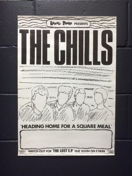 CHILLS THE-1985 HEADING HOME FOR A SQUARE MEAL ORIGINAL GIG POSTER
