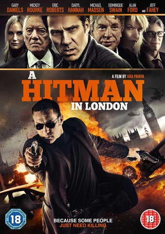 A HITMAN IN LONDON REGION TWO DVD VG+