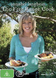 ANNABEL LANGBEIN THE FREE RANGE COOK 2DVD VG