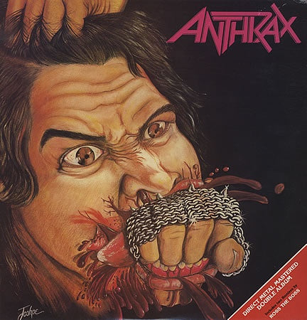 ANTHRAX-FISTFUL OF METAL 2LP VG COVER VG+