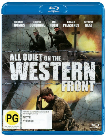 ALL QUIET ON THE WESTERN FRONT BLURAY VG+