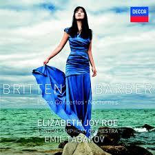 BRITTEN/ BARBER-PIANO CONCERTOS ELIZABETH JOY ROE CD *NEW*