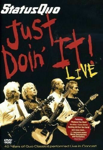STATUS QUO-JUST DOIN' IT LIVE DVD VG+