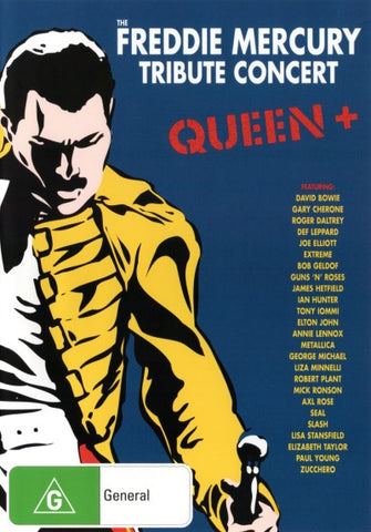 QUEEN+ THE FREDDIE MERCURY TRIBUTE CONCERT 3DVD VG