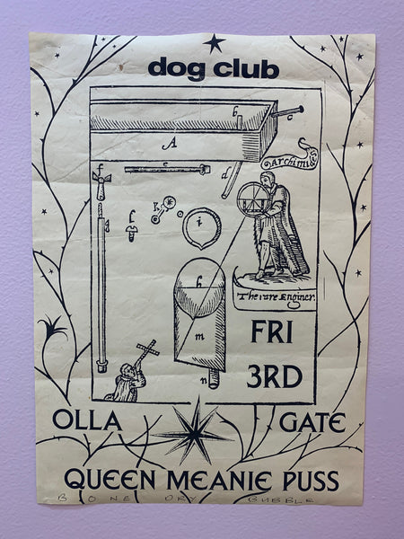 OLLA - GATE - QUEEN MEANIE PUSS ORIGINAL GIG POSTER