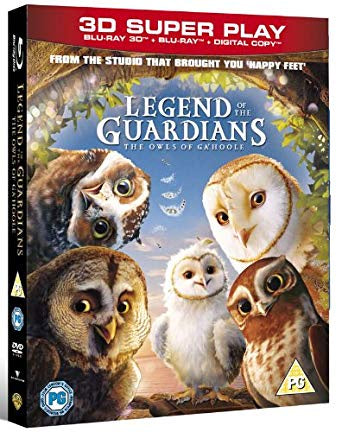 LEGEND OF THE GUARDIANS 3D + BLU-RAY VG+
