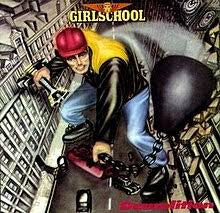 GIRLSCHOOL-DEMOLITION LP EX COVER EX