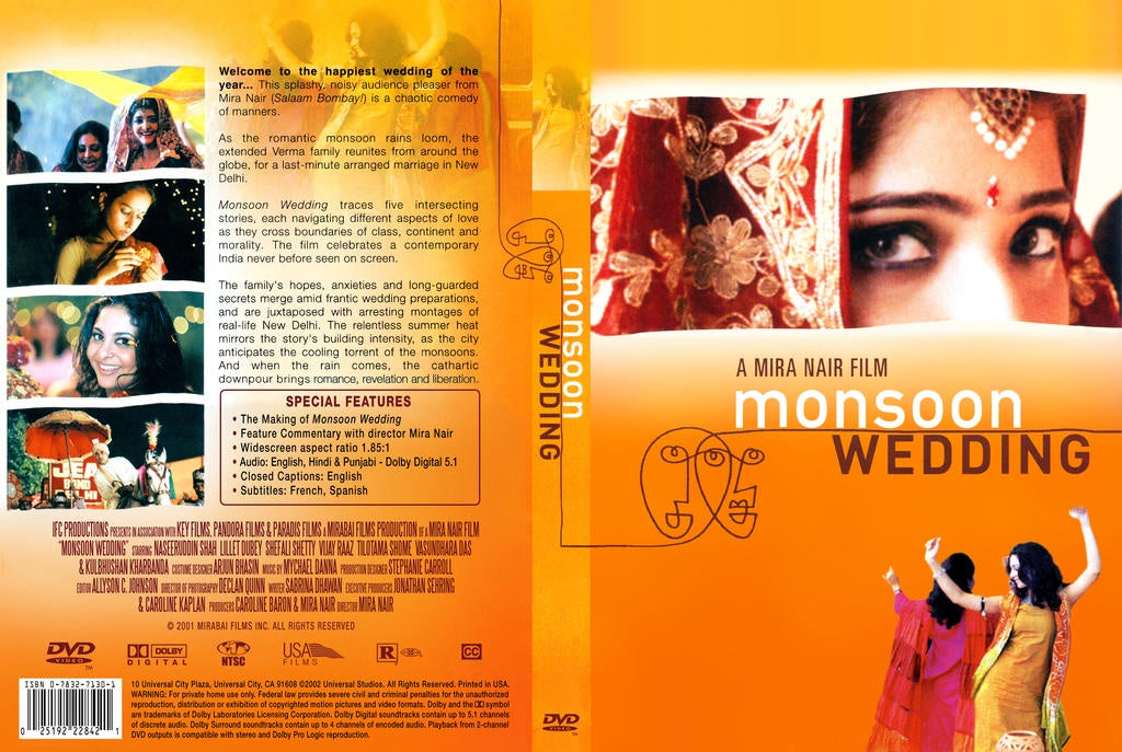MONSOON WEDDING DVD VG