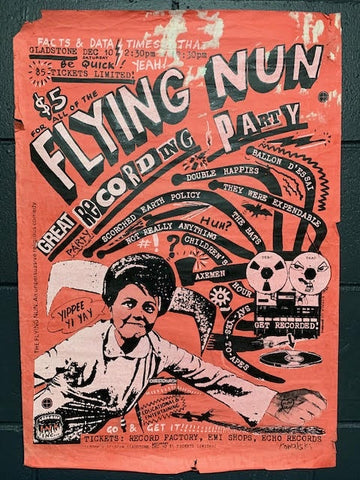 FLYING NUN GREAT RECORDING PARTY-ORIGINAL GIG POSTER