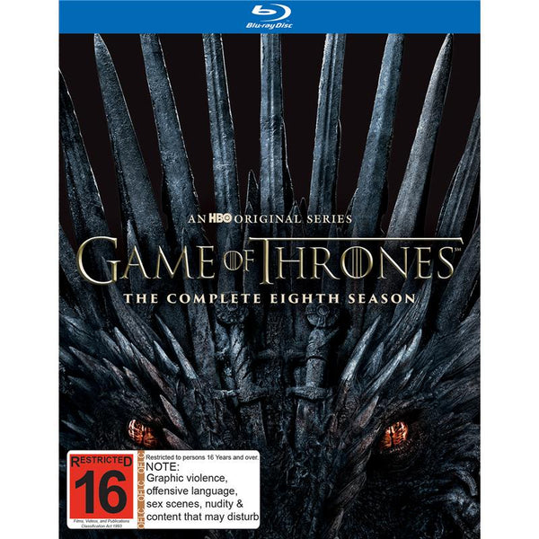 GAME OF THRONES-THE COMPLETE EIGHTH SEASONS 3BLURAY VG+