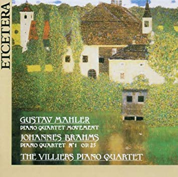 MAHLER BRAHMS- THE VILLIERS PIANO QUARTET CD VG