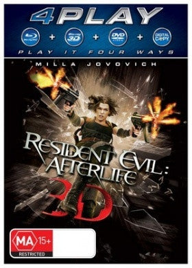 RESIDENT EVIL: AFTERLIFE BLURAY+ 3D VG