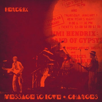 "HENDRIX JIMI-MESSAGE OF LOVE (LIVE) RED & YELLOW SPLATTER VINYL 7"" *NEW*"