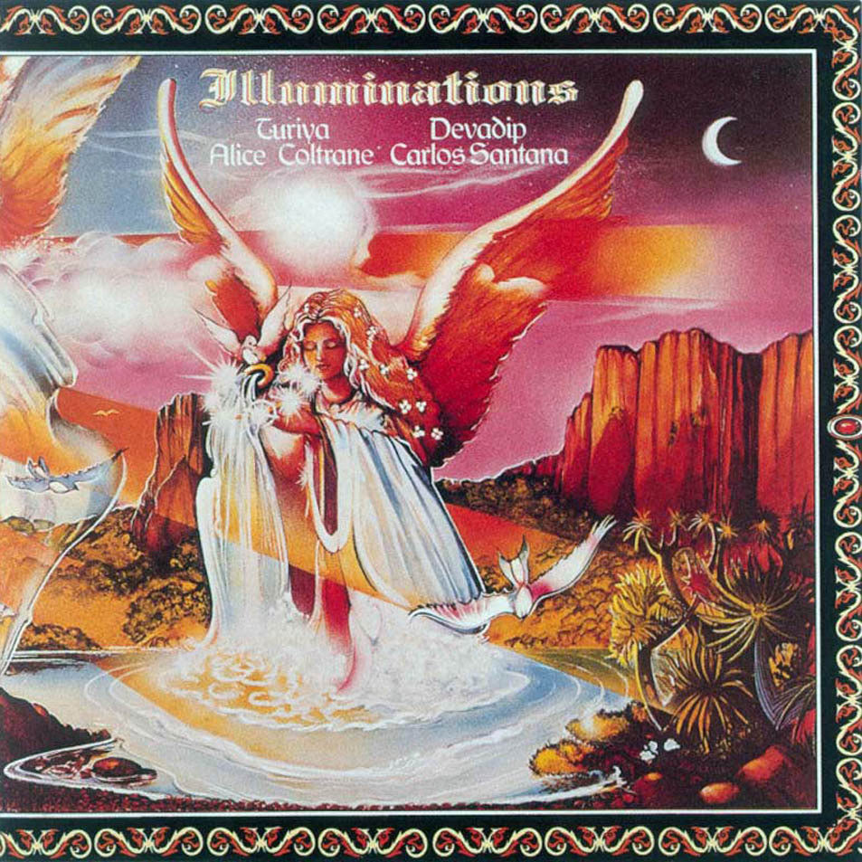 SANTANA CARLOS ALICE COLTRANE-ILLUMINATIONS LP NM COVER E