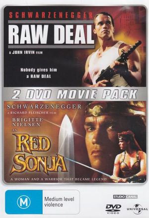 RAW DEAL + RED SONJA 2DVD VG+