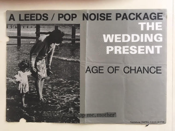 WEDDING PRESENT THE & AGE OF CHANCE ORIGINAL GIG POSTER
