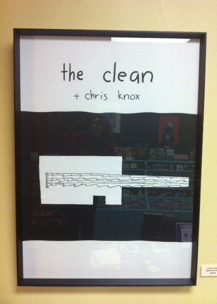 CLEAN THE CHRIS KNOX-VEHICLE ORIGINAL TOUR POSTER FRAMED *NEW*