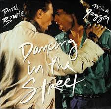 "BOWIE DAVID & MICK JAGGER-DANCING IN THE STREET 12"" EX COVER VG"