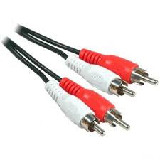 CABLE-2RCA-2RCA 2MTR CABLES *NEW*