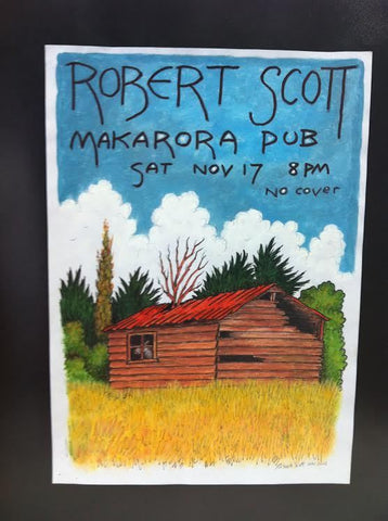 SCOTT ROBERT-MAKARORA ORIGINAL POSTER ARTWORK *NEW*