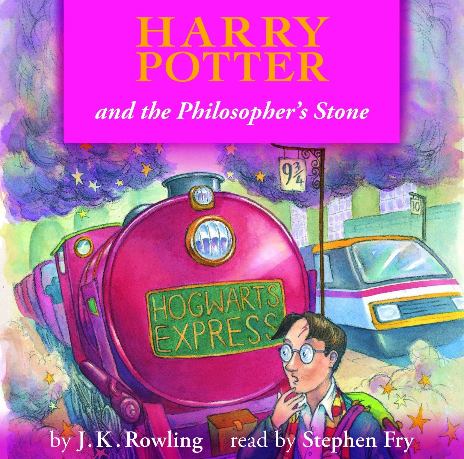 HARRY POTTER AND THE PHILOSOPHER'S STONE AUDIO BOOK 4CD VG+