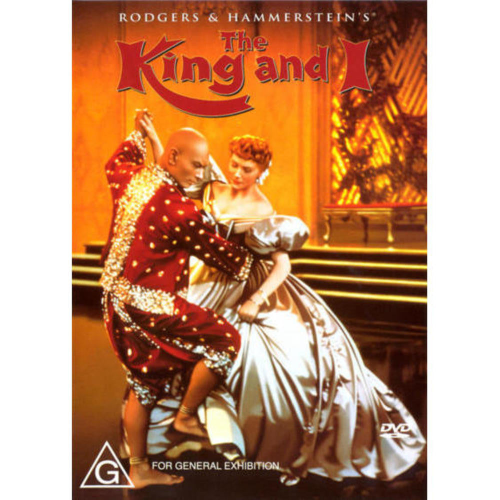 THE KING AND I DVD VG