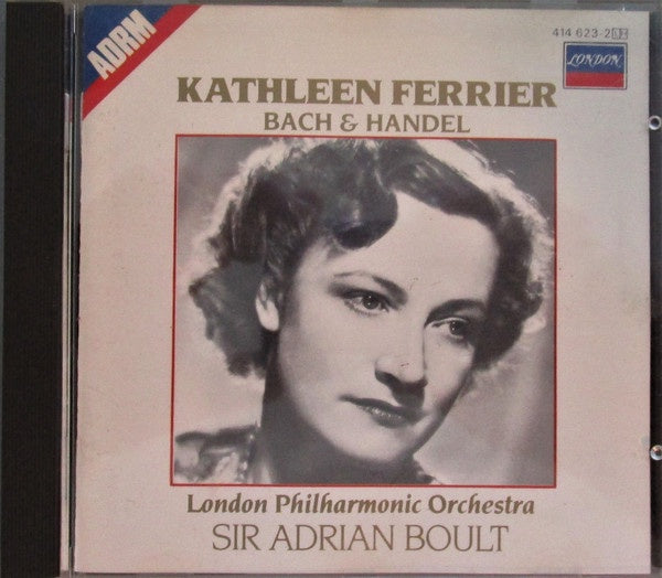 FERRIER KATHLEEN-SINGS BACH & HANDEL CD VG