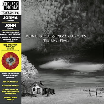 HURLBUT JOHN & JORMA KAUKONEN-THE RIVER FLOWS RED SPLATTER VINYL LP *NEW*
