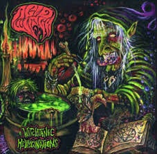 ACID WITCH-WITCHTANIC HELLUCINATIONS GREEN/ PURPLE VINYL LP NM COVER EX