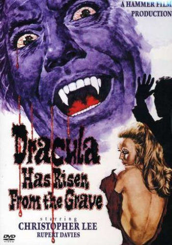 DRACULA HAS RISEN FROM THE GRAVE DVD VG+