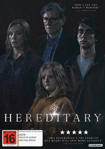 HEREDITARY DVD VG+