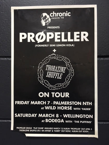 PROPELLER + THORAZINE SHUFFLE TOUR POSTER