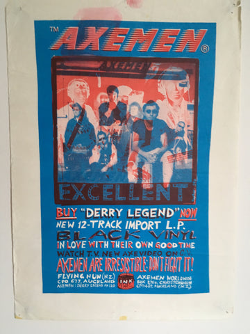 AXEMEN-DERRY LEGEND ORIGINAL PROMO POSTER