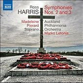 HARRIS ROSS-SYMPHONIES NOS 2 & 3 CD *NEW*