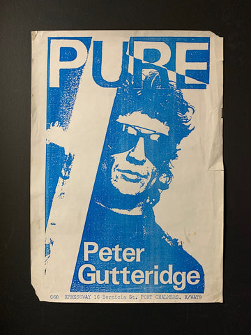 GUTTERIDGE PETER - PURE ORIGINAL PROMO POSTER