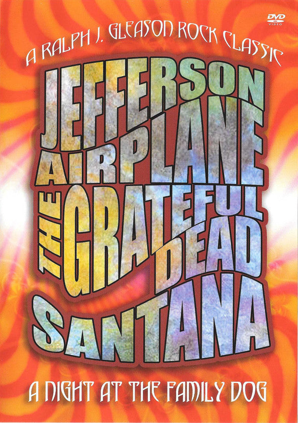 JEFFERSON AIRPLANE/THE GRATEFUL DEAD/SANTANA-A NIGHT AT THE FAMILY DOG DVD VG