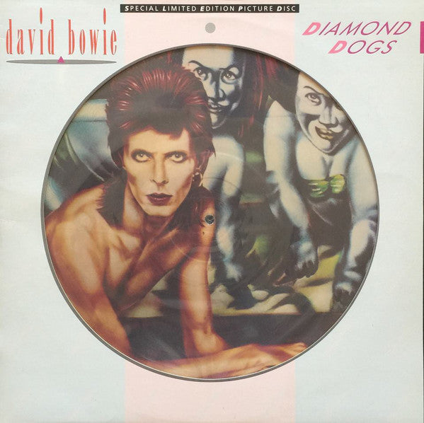 BOWIE DAVID-DIAMOND DOGS PICTURE DISC LP VG COVER VG