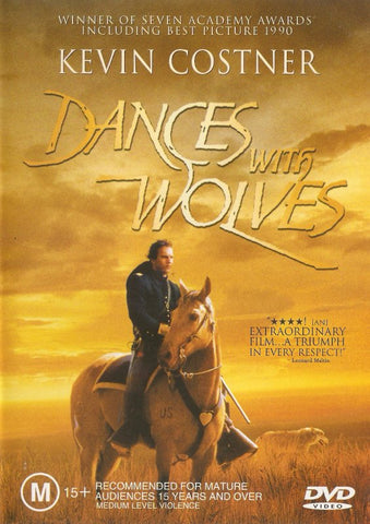 DANCES WITH WOLVES DVD VG+