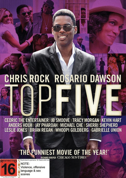 TOP FIVE - CHRIS ROCK ROSARIO DAWSON DVD G