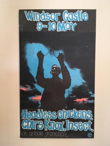 HEADLESS CHICKENS-CHRIS KNOX-INSECT-WINDSOR CASTLE ORIGINAL GIG POSTER