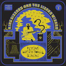 KING GIZZARD & THE LIZARD WIZARD-FLYING MICROTONAL RADIOACTIVE YELLOW VINYL LP NM COVER VG+