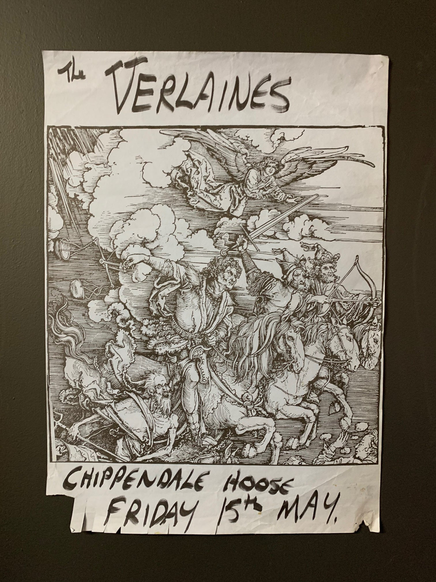 VERLAINES THE - ORIGINAL GIG POSTER